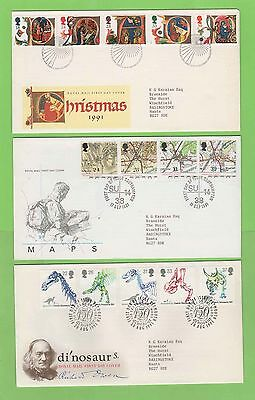 GB 1991 Collection of eight Royal Mail First Day Covers with Special Cancels