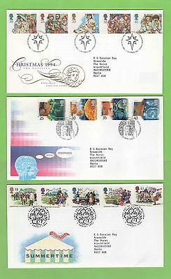 GB 1994 Collection of nine Royal Mail First Day Covers with Special Cancels