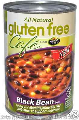 New Health Valley Gluten Free Café Black Bean Soup Canned Natural Daily Foods