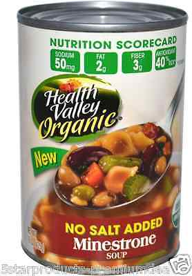 New Health Valley Organic Minestone Soup No Salt Fiber & Antioxidant Body Source