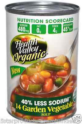 New Health Valley Organic 14 Garden Vegetable Soup Fiber Vitamins A & C Daily • AUD 22.50