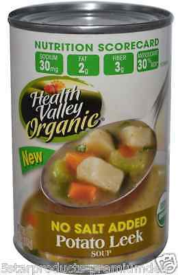 New Health Valley Organic Potato Leek Soup No Salt Added Fiber Vitamin Body Care