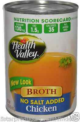 New Health Valley Broth Chicken No Salt Added Low Fat Low Sodium Daily Body Care