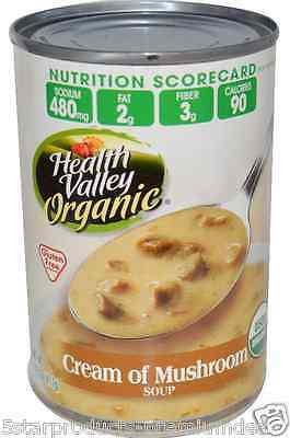 New Health Valley Gluten Free Cream Of Mushroom Soup Natural Daily Fiber Foods