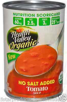 New Health Valley Organic Tomato Soup No Salt Added Antioxidant Fiber Source
