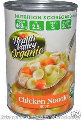 New Health Valley Organic Soup Chiken Noodle No Salt Gluten Free Hearth Healthy
