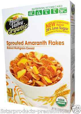 New Health Valley Organic Baked Multigrain Cereal Sprouted Amaranth Flakes Foods