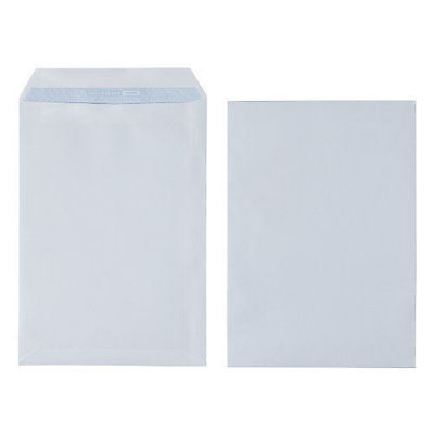 New 500 X A4 C4 High Quality Plain White Envelope Envelopes 100 Gsm Self Seal