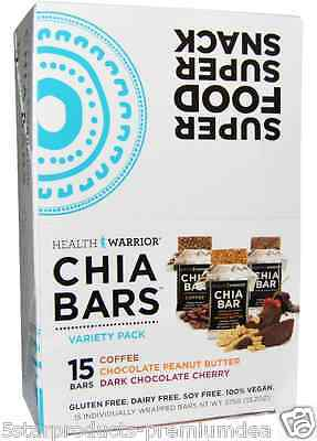 New Health Warrior Inc Chia Bars Variety Pack Nutritional Gluten Free Snacks