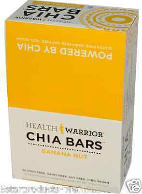 New Health Warrior Inc Chia Bars Banana Nut Nutritional Gluten Free Snacks Daily