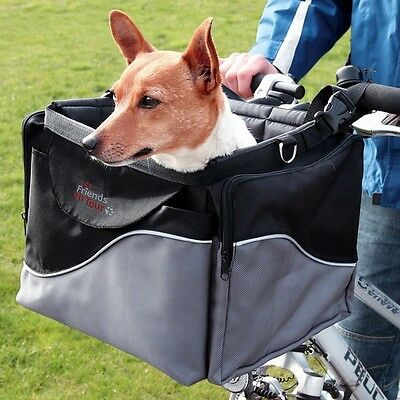 Trixie  Deluxe Dog Bicycle Front Box Carrier For Small Dogs 13113