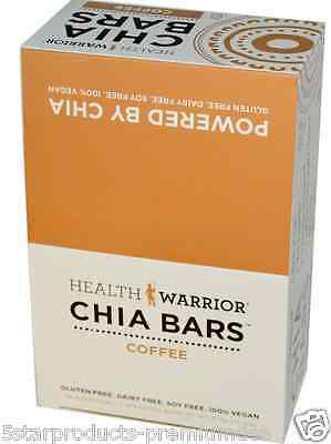 New Health Warrior Inc Chia Bars Coffee Nutritional Gluten Free Snacks Daily