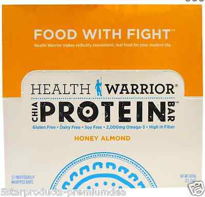 New Health Warrior Inc Chia Protein Bars Nutritional Gluten Free Fiber Body Care
