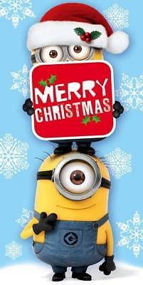 Despicable Me Merry Christmas Money Wallet Card Minion New Gift