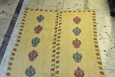 Antique  Perfect Handmade Arabian Palestine Cotton And Silk Mixed Textile