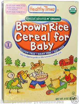 New Healthy Times Special Nourish Organic Brown Rice Cereal For Baby Gluten Free