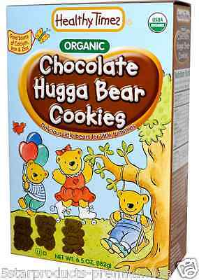 New Healthy Times Organic Hugga Bear Cookies Chocolate Baby Feeding Daily Meal