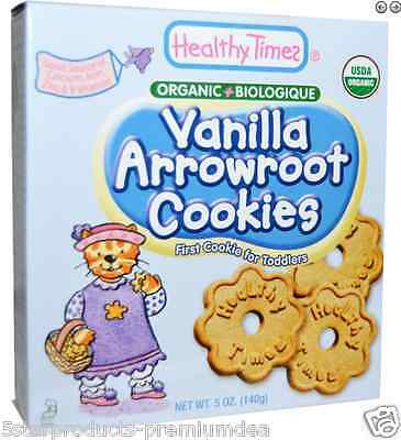 New Healthy Times Vanilla Arrowroot Cookies Baby Feeding Teething Biscuits Daily