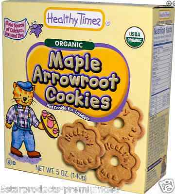 New Healthy Times Organic Arrowroot Cookies Baby Feeding Teething Biscuits Daily