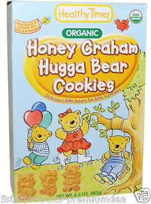 New Healthy Times Honey Graham Hugga Bear Cookies Teething Biscuits Daily Care
