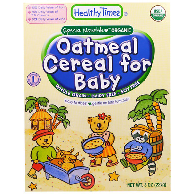 New Healthy Times Oatmeal Cereal For Babies Whole Grain Feeding Organic Daily