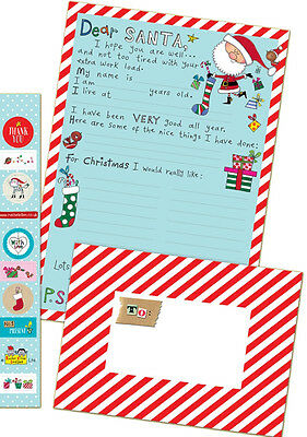 Rachel Ellen Letter To Santa -Letter set for Father Christmas -Stickers/Envelope