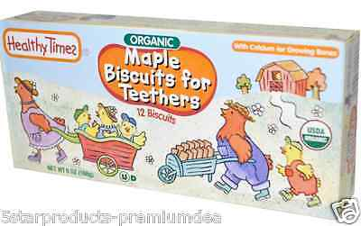 New Healthy Times Organic Maple Biscuit For Teethers Calcium Source Daily Care