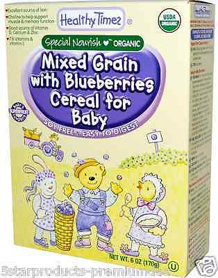 New Healthy Times Organic Mixed Grain With Blueberries Cereal For Baby Feeding