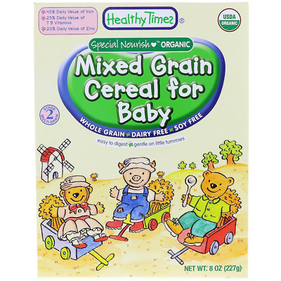 New Healthy Times Organic Mixed Grain Cereal For Baby Feeding Whole Grain Care