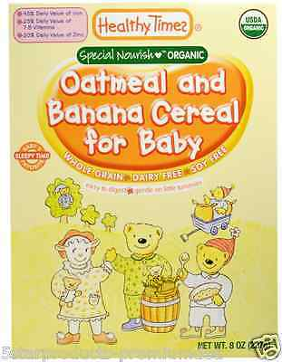 New Healthy Times Organic Oatmeal & Banana Cereal For Baby Feeding Daily Care