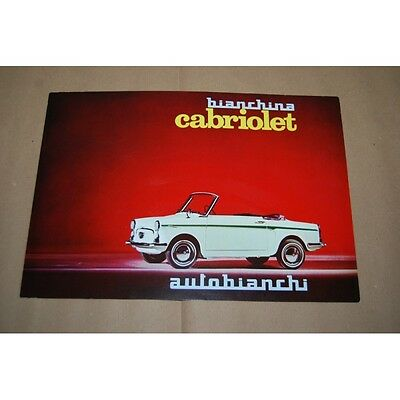 Brochure Auto Bianchina Autobianchi Cabriolet 3 Pag. Up 6512 Nuovo