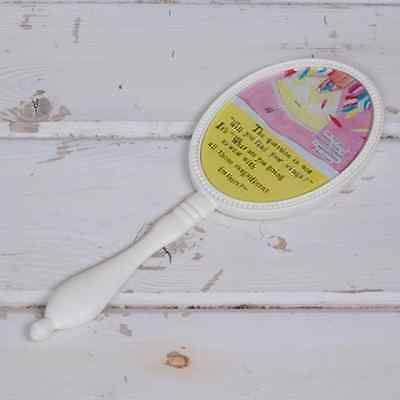 Curly Girl Hand Mirror -Cute small Mirror with Handle -Great gift idea for girls