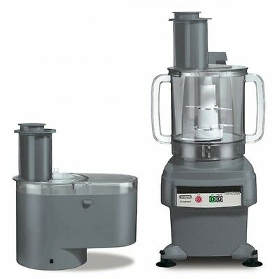 Waring FP2200 6 Qt Bowl & Continuous Feed Food Processor 1 Yr Warranty Like New.