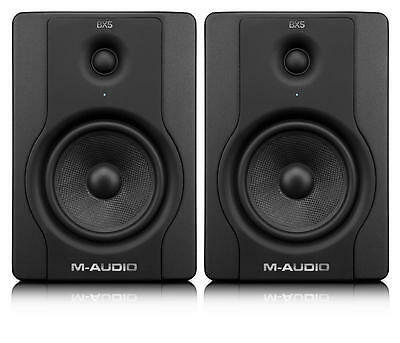 "M-Audio BX5 D2 Black Pair 5"" 2-Way Active Powered Studio Monitor Speakers 70W"