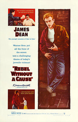 VINTAGE REBEL WITHOUT A CAUSE JAMES DEAN MOVIE POSTER A3 PRINT