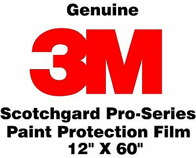 "Genuine 3M Scotchgard Pro Series Paint Protection Film Clear Bra Roll 12"" x 60"""