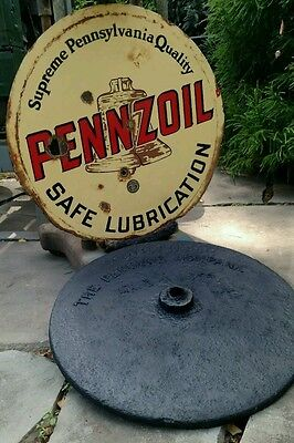 PENNZOIL Base for Lollipop Sign Advertisement. BUYER may ship themselves UPS