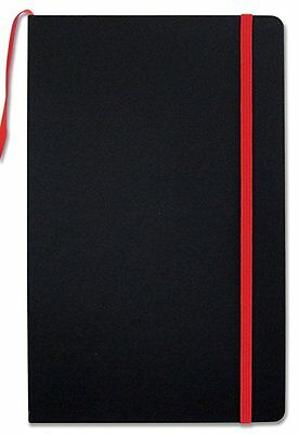 BookFactory Black Journal / Writing Notebook / Blank Diary / Lined Pages Book -