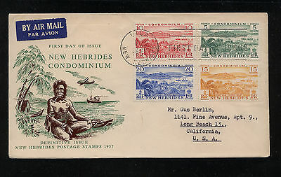 New  Hebrides  82-85  on  cachet  cover  1957    MS0815