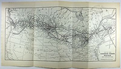 Original 1913 Map of the Canadian Pacific Railroad