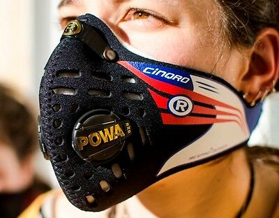 Respro Cinqro Hepa Dacc Pollutant Sports Mask Black Xl *extra-Large* Synchro