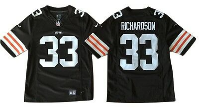 Trent Richardson Cleveland Browns Nike NFL Football Mens Sewn Jersey #33 NWT