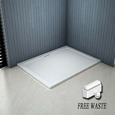 Aica 1200x760mm Rectangle Shower Enclosure Tray Hidden Waste NEXTDAY DELIVERY