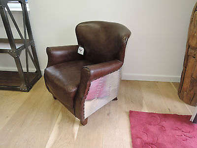 Deluxe Furniture, Aviator Real Leather & Aluminium  Arm Chair L-707 Special Offe