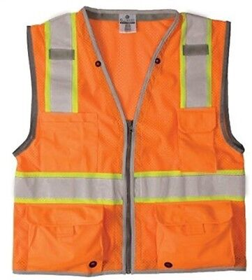 ML Kishigo 1511-XL Heavy Duty Vest Class 2 Orange Xl