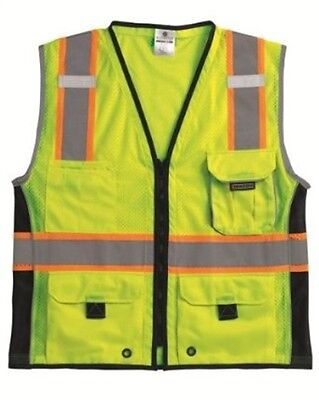 ML Kishigo 1513-L Premium Black Series Heavy Duty Vest Lime L