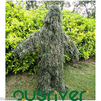 Camouflage Jungle Hunting Ghillie Suit Woodland Sniper Bird Watching Painball