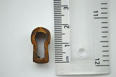 Original Antique Brass Furniture Escutcheon Keyhole Key Hole Rz6
