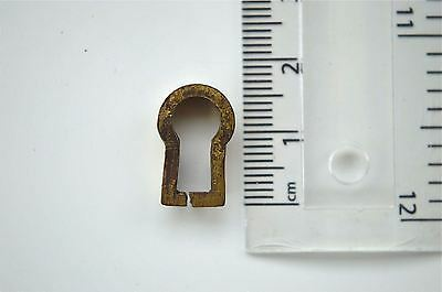 Original Antique Brass Furniture Escutcheon Keyhole Key Hole Rz15