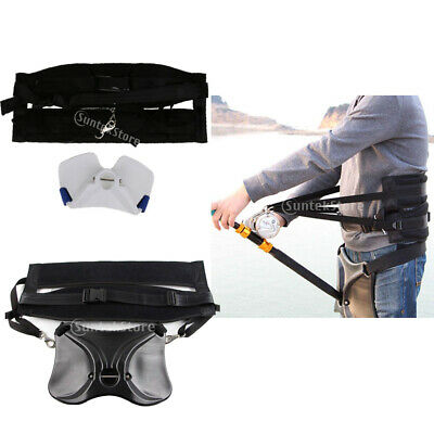 Pro Big Game Sea Fishing Fighting Belt Rod Holder Back Harness Offshore Stand Up
